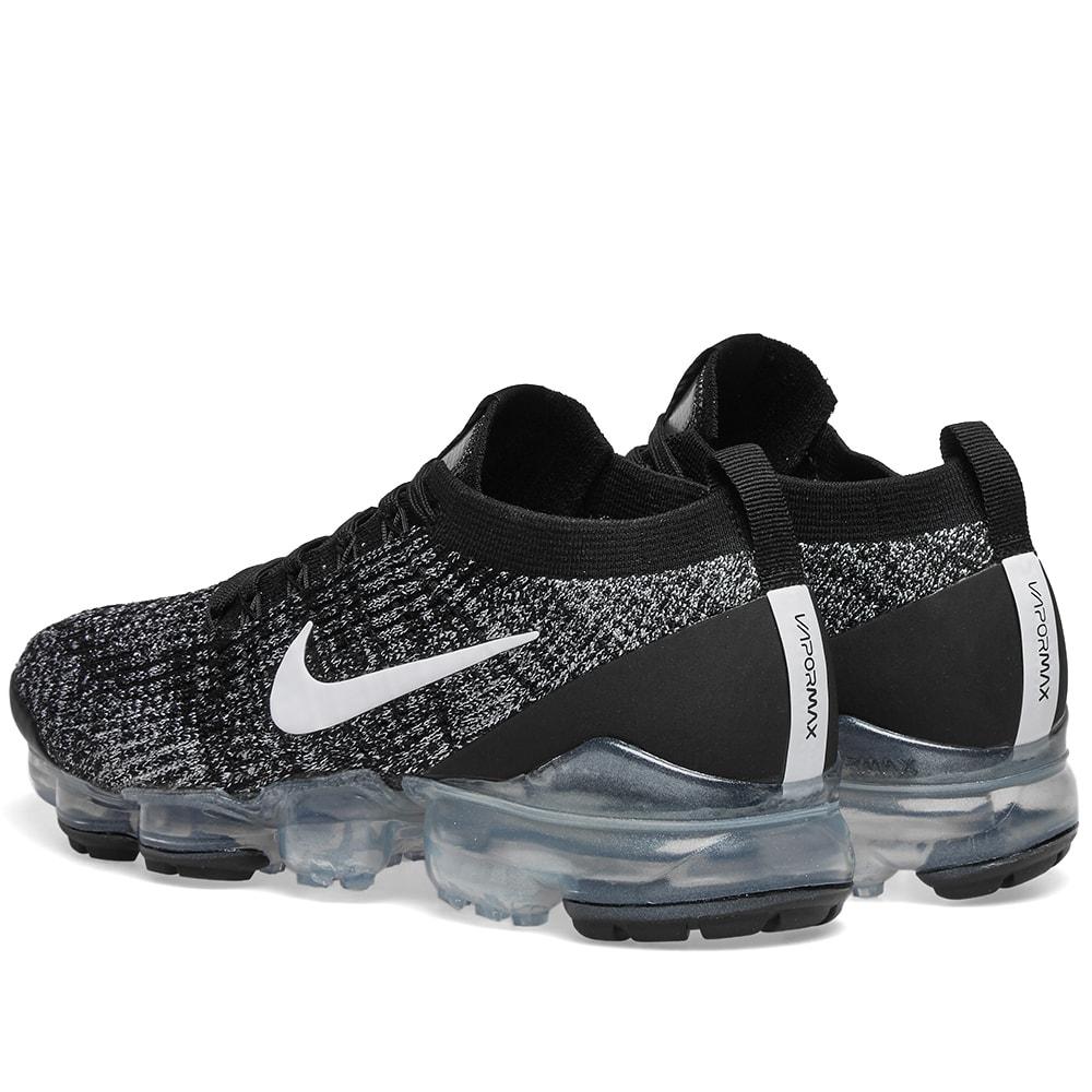 Nike Air Vapormax Flyknit 3 W Black White Metalic Silver End