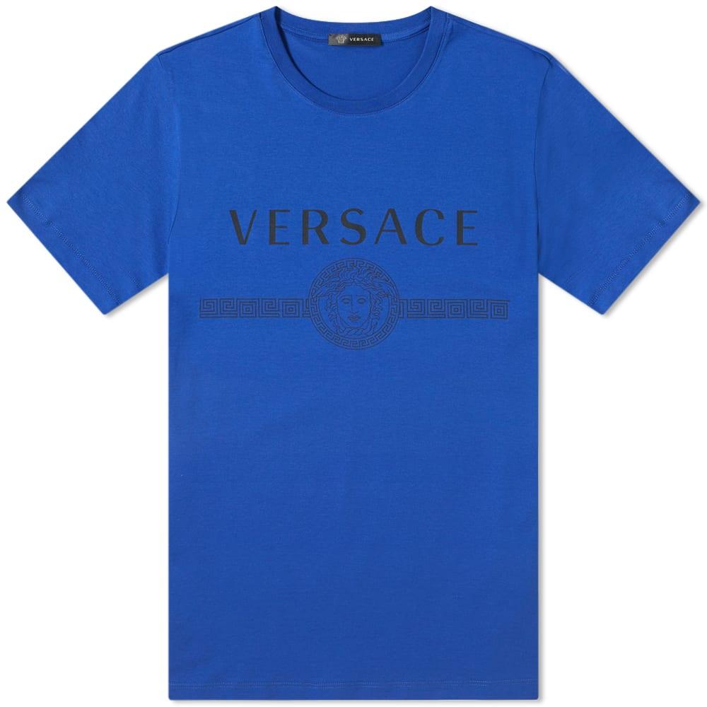 VERSACE | Versace Classic Logo Tee Bluette | Goxip