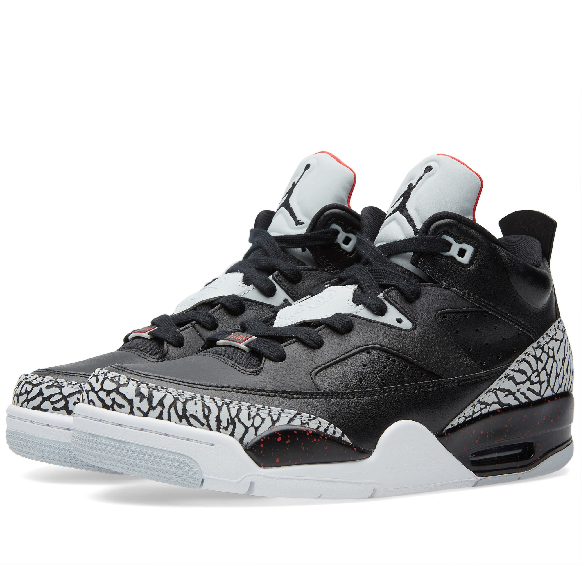 low priced d291b 38509 Nike Air Jordan Son of Mars Low  Black Cement  Black   University Red   END.