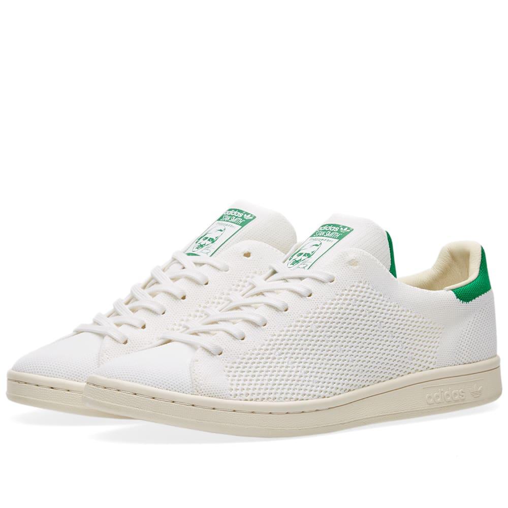 1359c8e8fc9 Adidas Stan Smith OG Primeknit Chalk White   Green