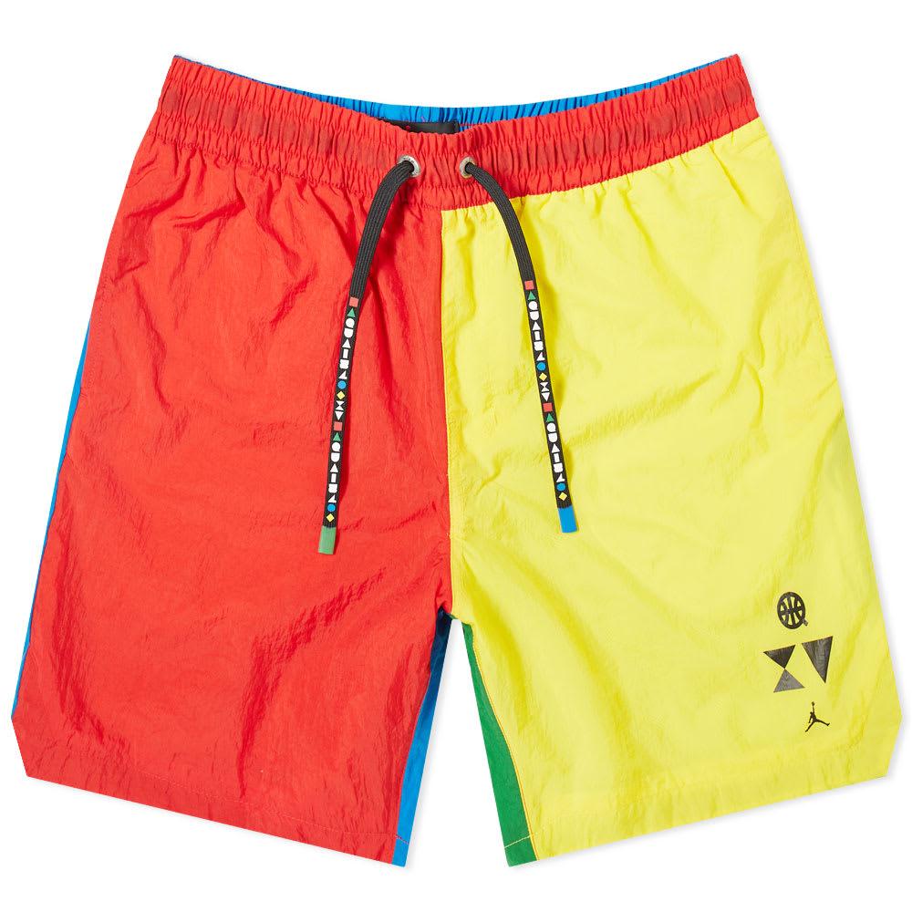 Air Jordan Q54 Shorts Red, Yellow
