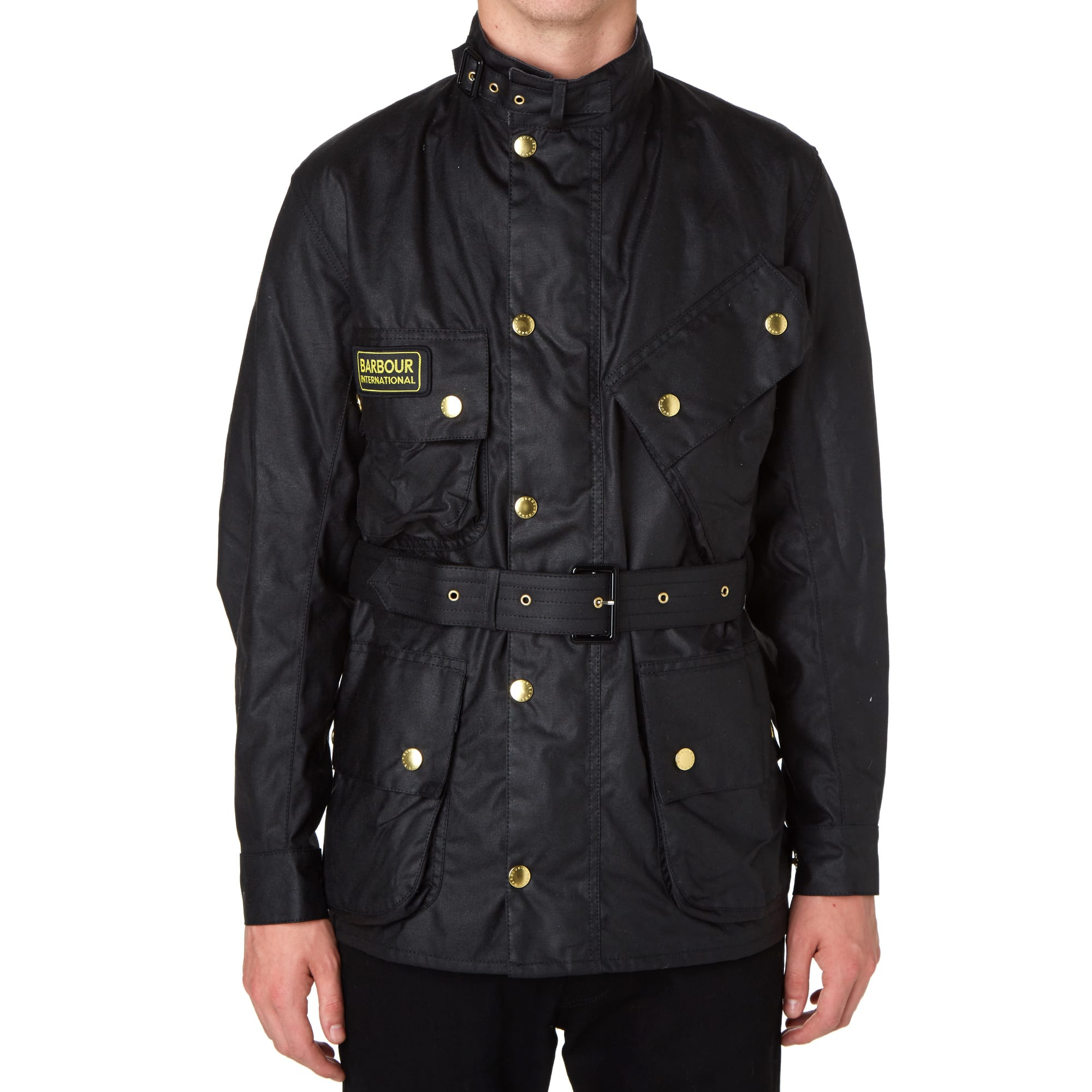 barbour international jacket black