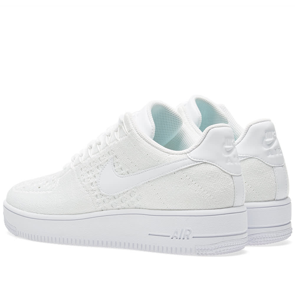 07489f90b33f Nike Air Force 1 Flyknit Low White