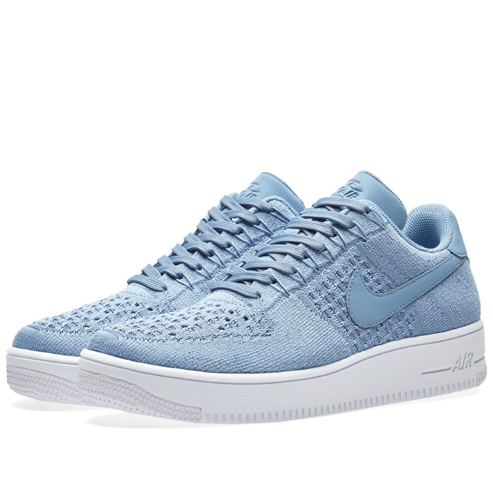 nike air force 1 flyknit low work blue white. Black Bedroom Furniture Sets. Home Design Ideas
