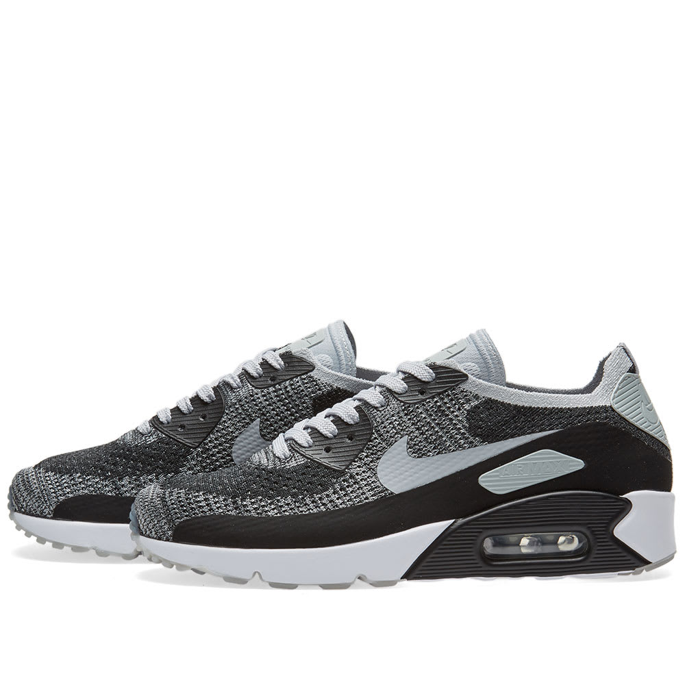 31a7865b7f Nike Air Max 90 Ultra 2.0 Flyknit Black, Grey & Platinum | END.