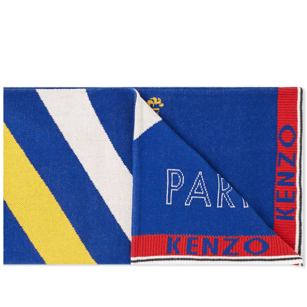 Kenzo Football Scarf In Blue