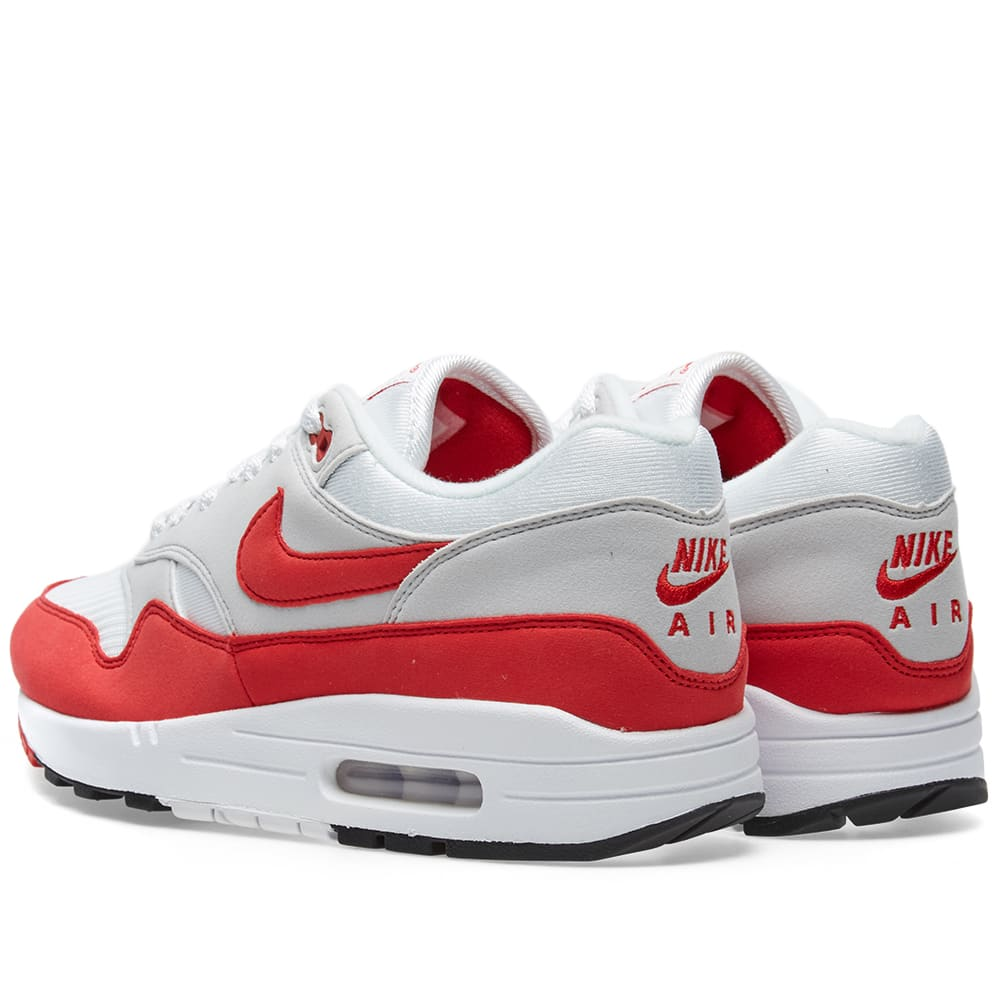 best sneakers dcd48 e62f5 Nike Air Max 1 OG White, University Red   Grey   END.
