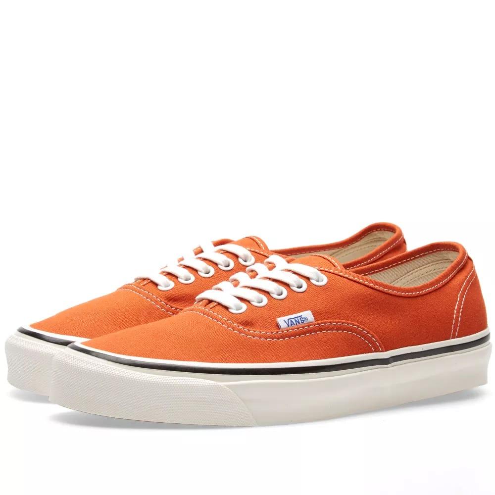 vans authentic orange