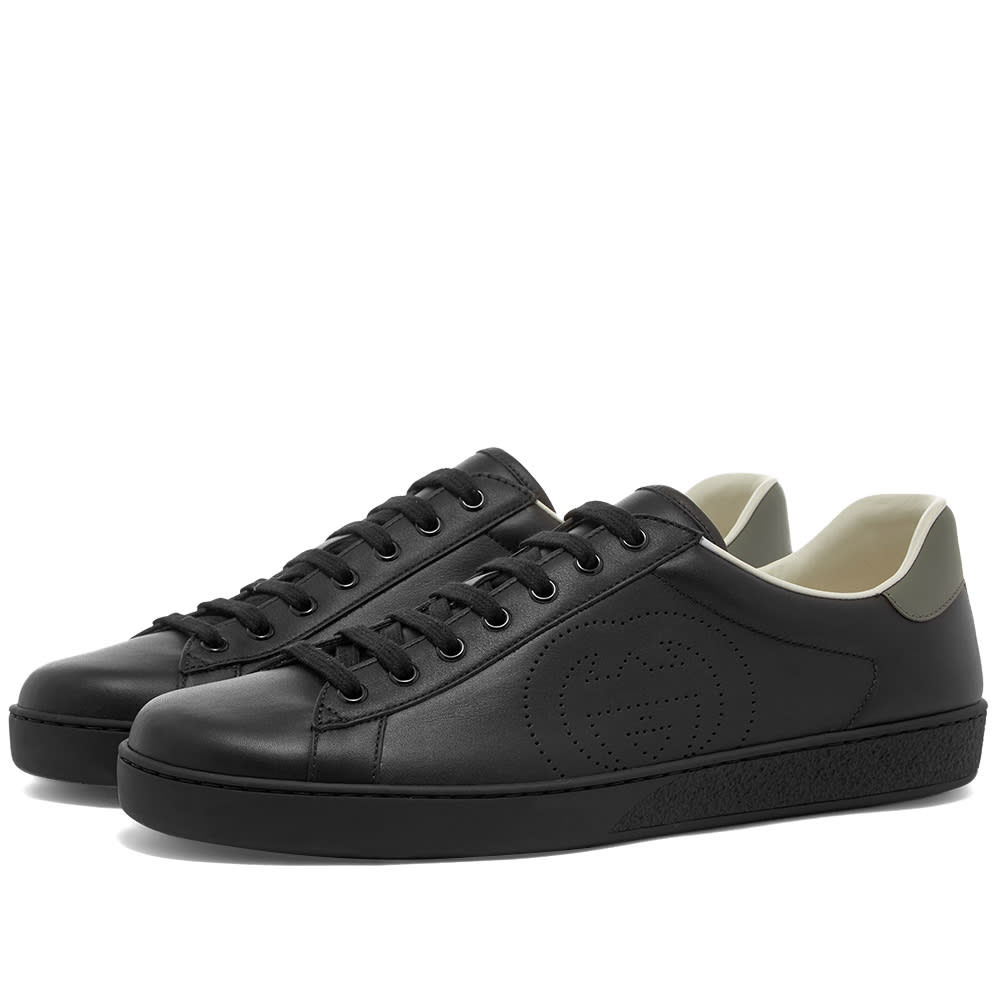 Gucci Gucci Perforated GG New Ace Leather Sneaker