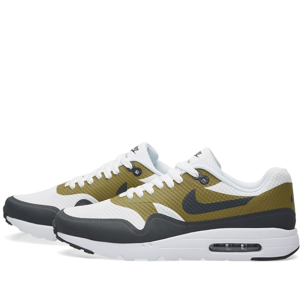 Air Max 1 Ultra Essentials Oliv Grau Weiß