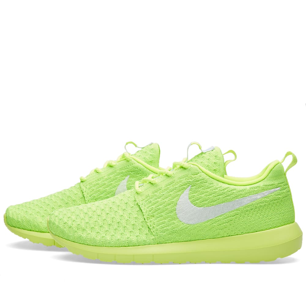 new concept fa13d 618b0 Nike W Roshe NM Flyknit Volt, White   Electric Green   END.