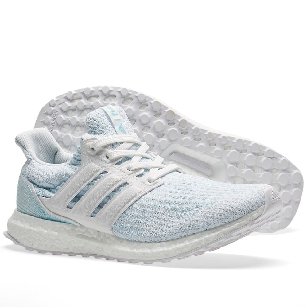 c35215eace986 Adidas Ultra Boost Parley White   Icey Blue
