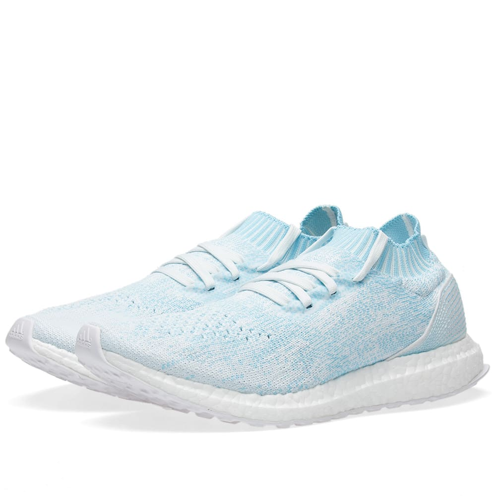 1b5b23210 Adidas Ultra Boost Uncaged Parley Icy Blue   White