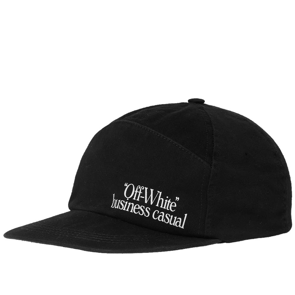 bffbd80c71d Off-White 5 Panel Business Casual Cap Black   White