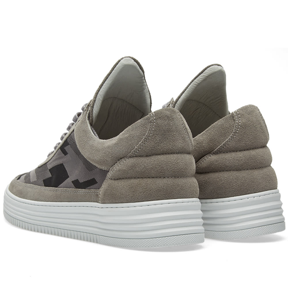 796c41314eff9 Filling Pieces Low Top Sneaker Grey Tech Camo | END.
