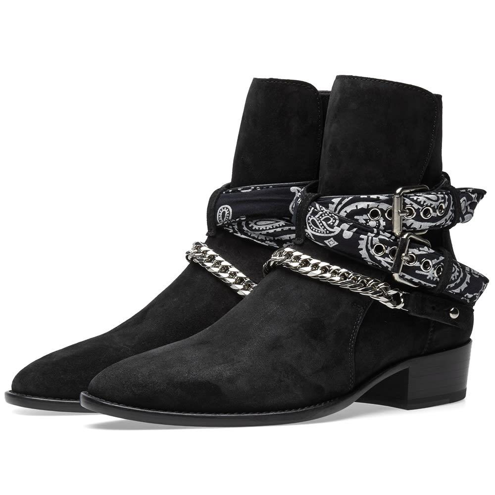 Amiri Bandana Buckle Boot Black End