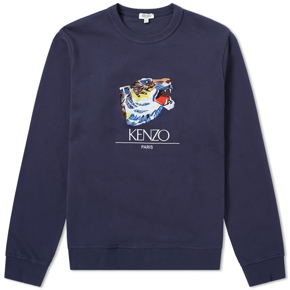 84f0bec6 Kenzo Tiger Head Profile Crew Sweat 'Go Tigers!' Ink | END.