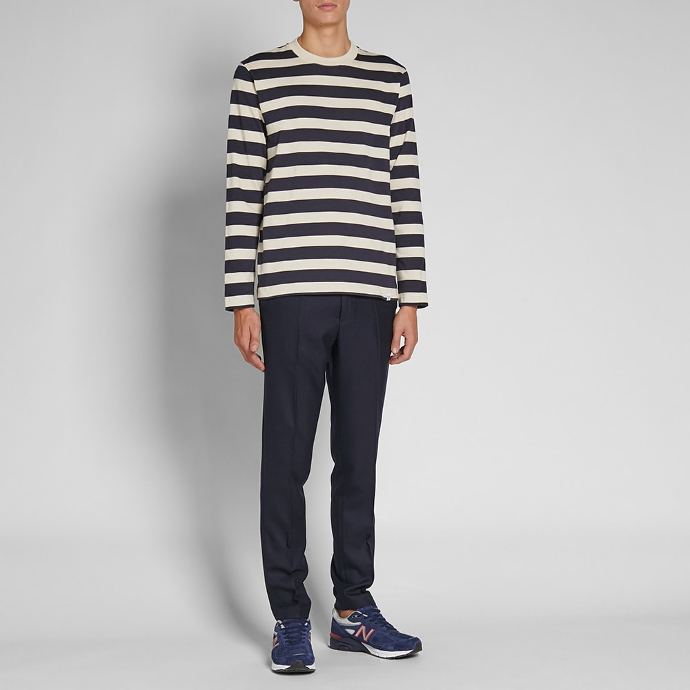 b8c2336e170 Norse Projects Long Sleeve Johannes Rugby Stripe Tee. Navy