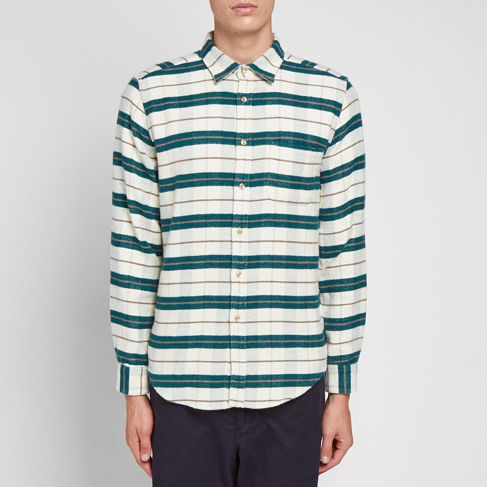 Portuguese Flannel Bravo Stripe Overshirt