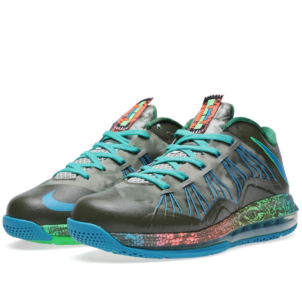 huge discount 98b3e ede69 Nike Air Max LeBron X Low  Swamp Thing  Tarp Green   END.