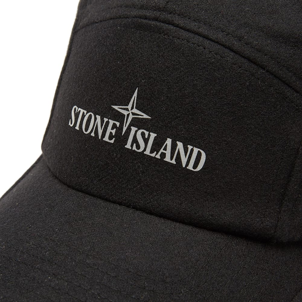 stone island logo print cap black. Black Bedroom Furniture Sets. Home Design Ideas