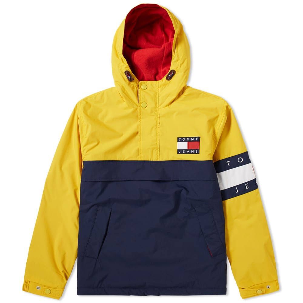 9bb06a46028 Tommy Jeans 90s Colour Block Pullover Jacket Fresia & Multi   END.
