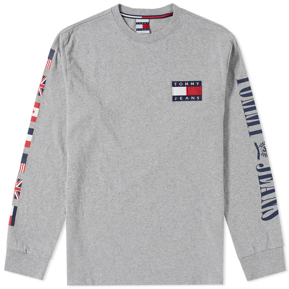 45942c7e5 Tommy Jeans Long Sleeve 90s CN Tee Grey Marl | END.