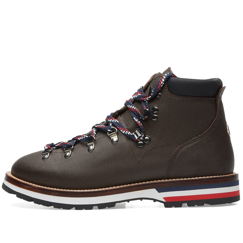 9a518fb736ba Moncler Peak Leather Hiking Boot Dark Brown