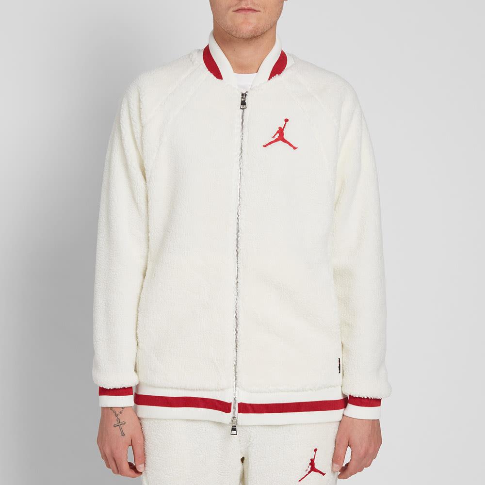 4c834b1e835997 Nike Air Jordan Sportswear AJ 1 Fleece Jacket Sail & Gym Red | END.