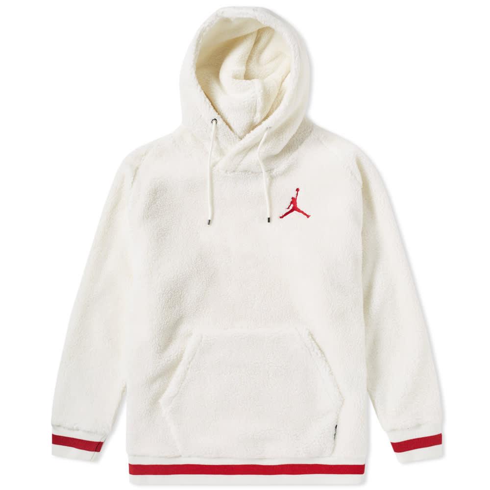 881ba1f9ca0abd Nike Air Jordan Sportswear AJ 1 Fleece Hoody Sail & Gym Red | END.