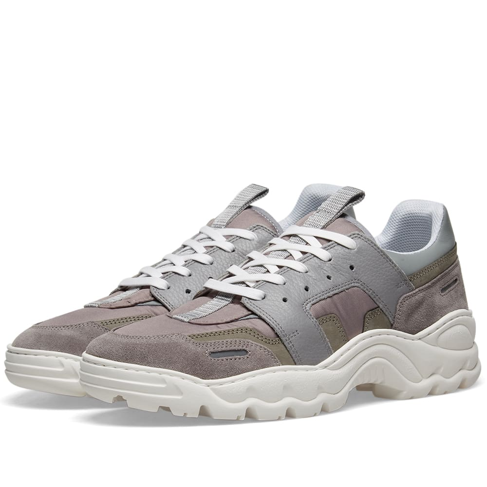 AMI Oversized Running Sneaker Grey   END.