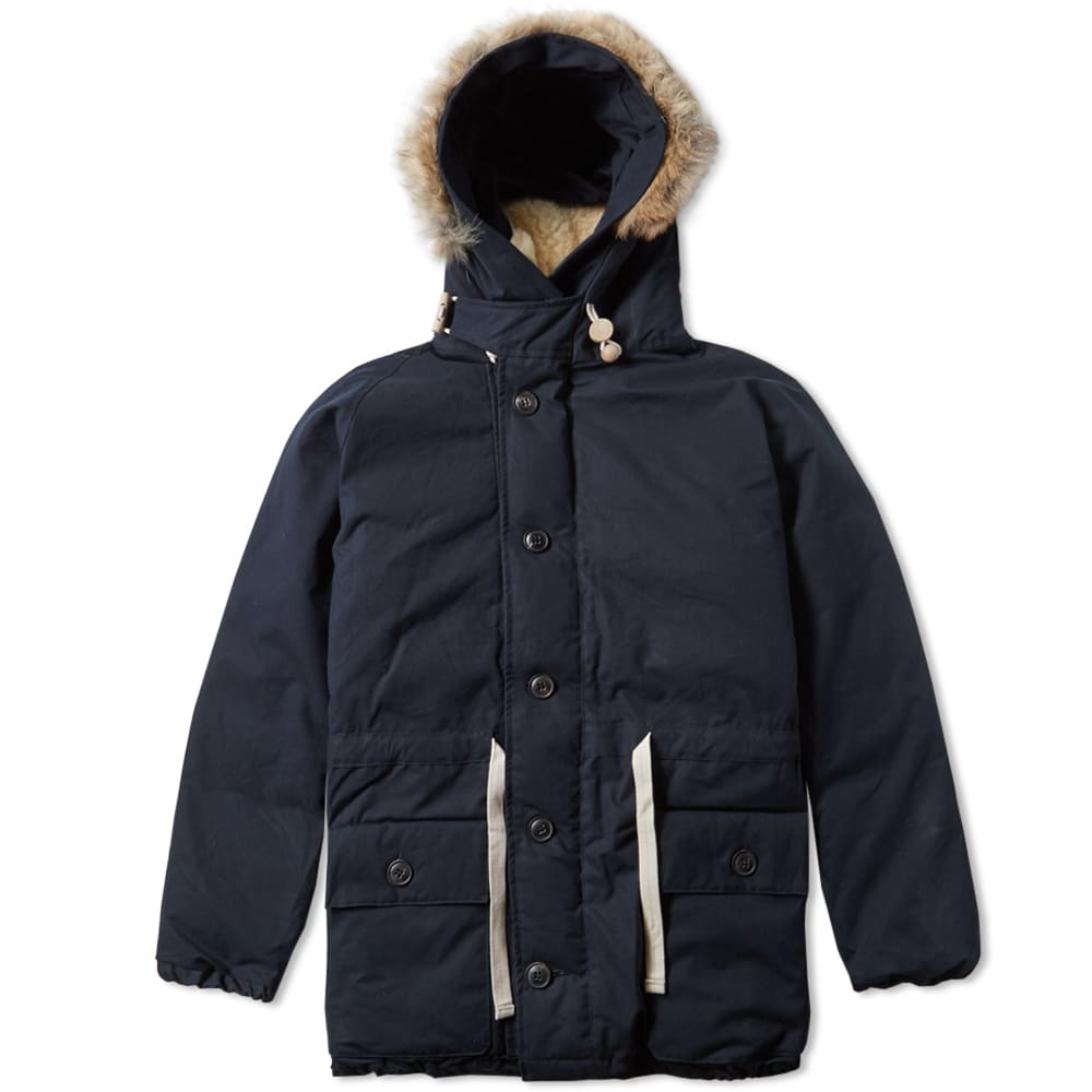 c753c3423be0 Nigel Cabourn Everest Parka Black Navy