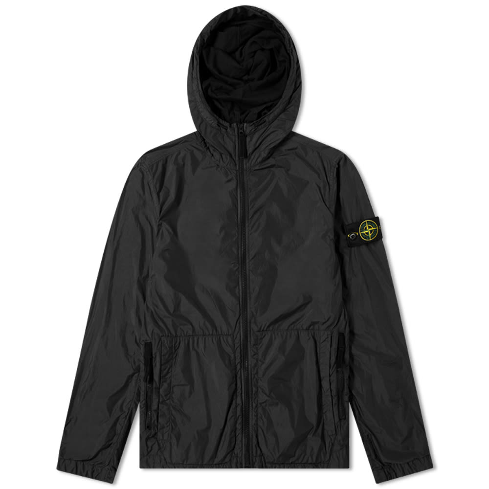 Stone Island Garment Dyed Crinkle Reps Hooded Jacket by Stone Island
