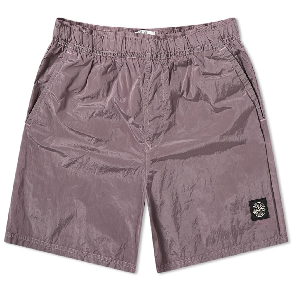 Stone Island Garment Dyed Nylon Metal Patch Logo Swim Short by Stone Island