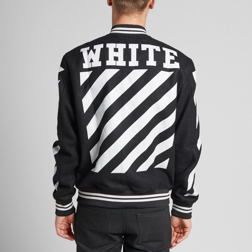 Off-White Letterman Jacket (Black U0026 White)