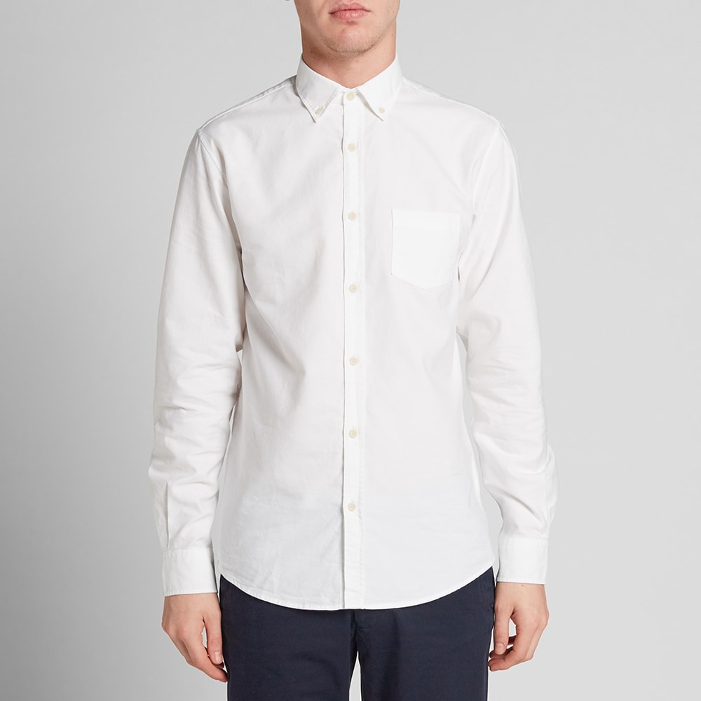 Sunspel button down oxford shirt white for White button down oxford shirt