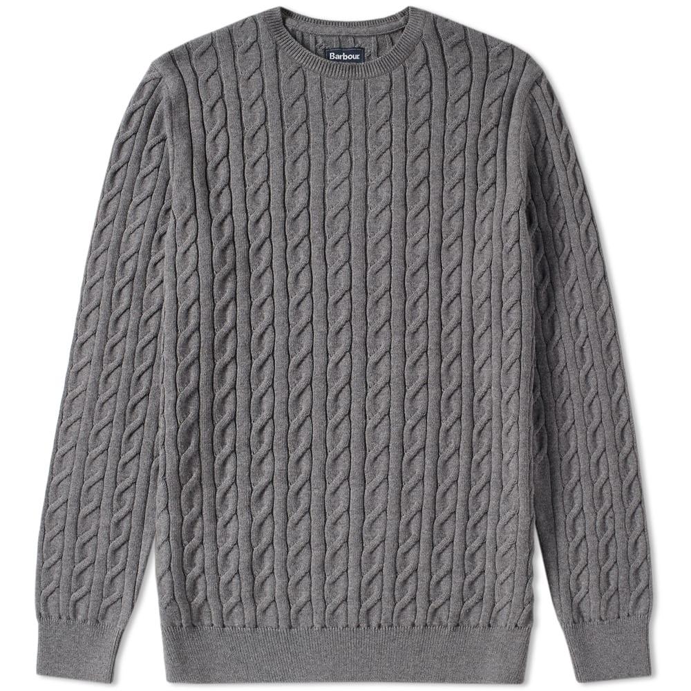 Barbour Cotton Cashmere Cable Crew Knit