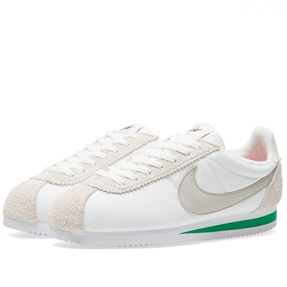 half off e88e4 f132f Nike Classic Cortez Nylon Premium Ivory, Pale Grey   Pine Green   END.