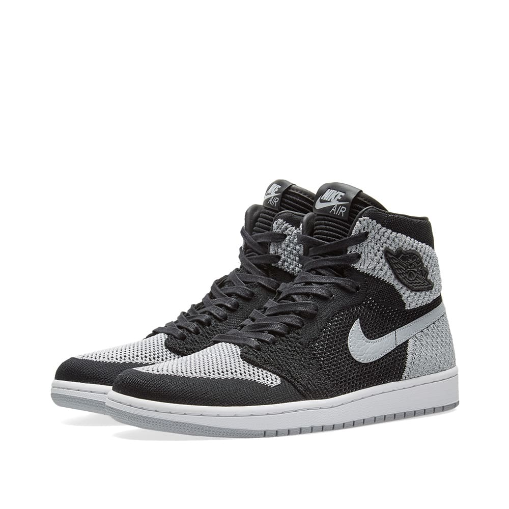 76498bc7b28b00 Air Jordan 1 Retro High Flyknit GS Black
