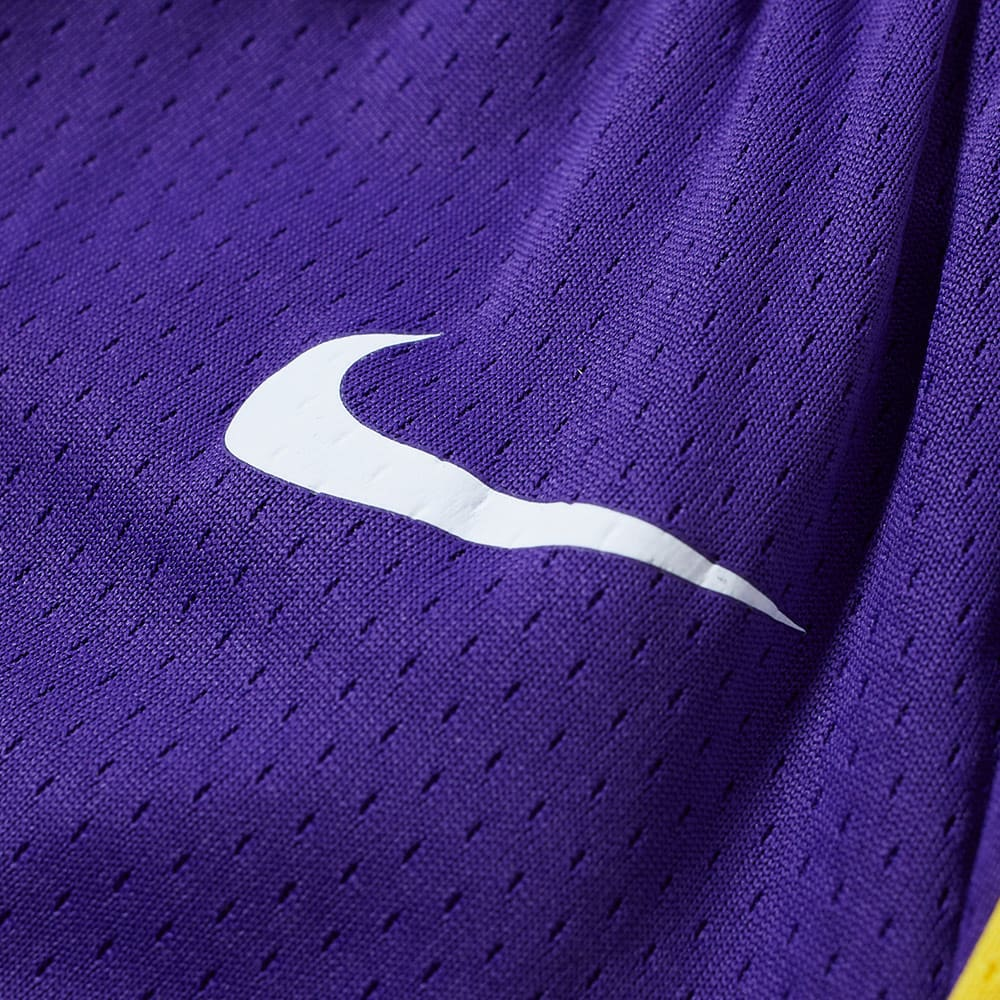 6f58f8f57f220d Nike Los Angeles Lakers Statement Edition Swingman Short Purple ...