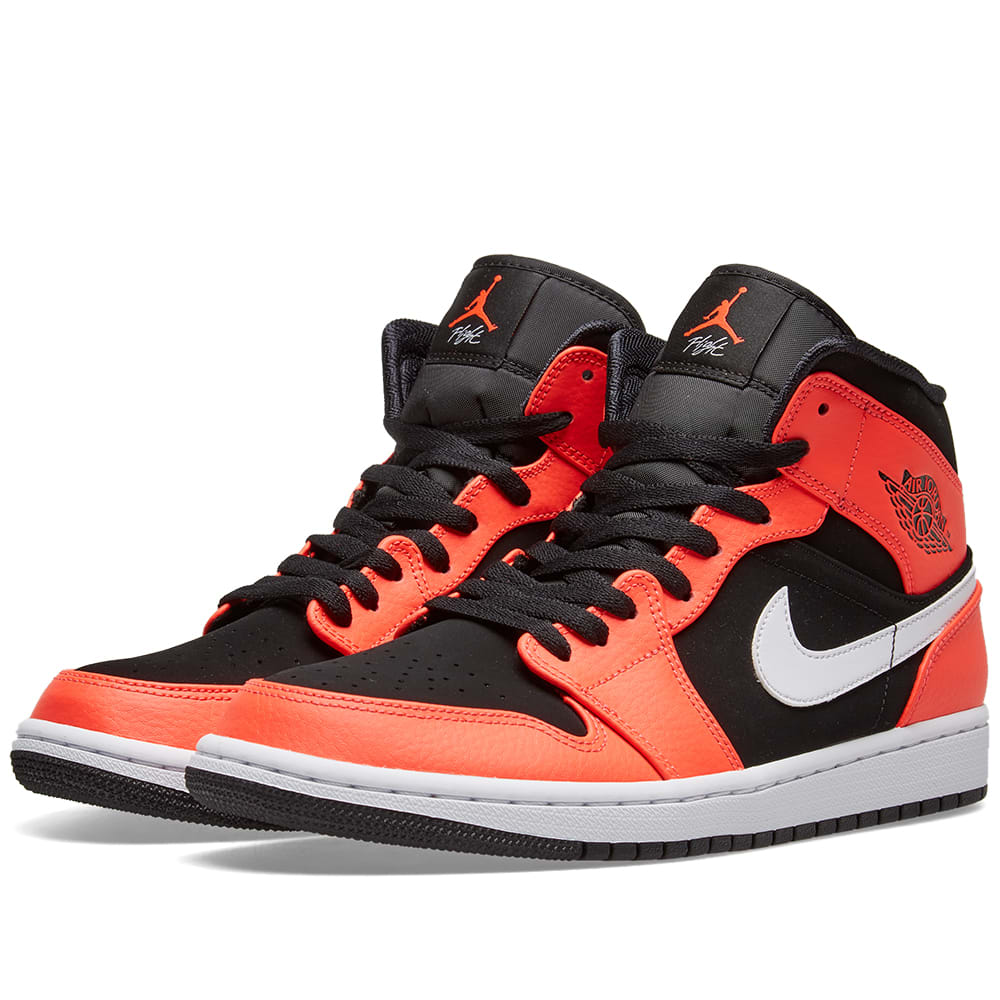 super popular f0b87 166b5 Air Jordan 1 Mid Black, Infrared   White   END.