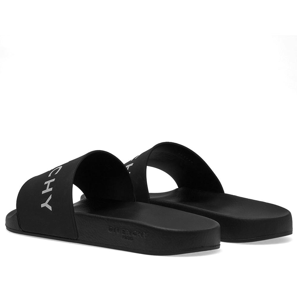 27463f0ed7c0 Givenchy Logo Slide Black   White
