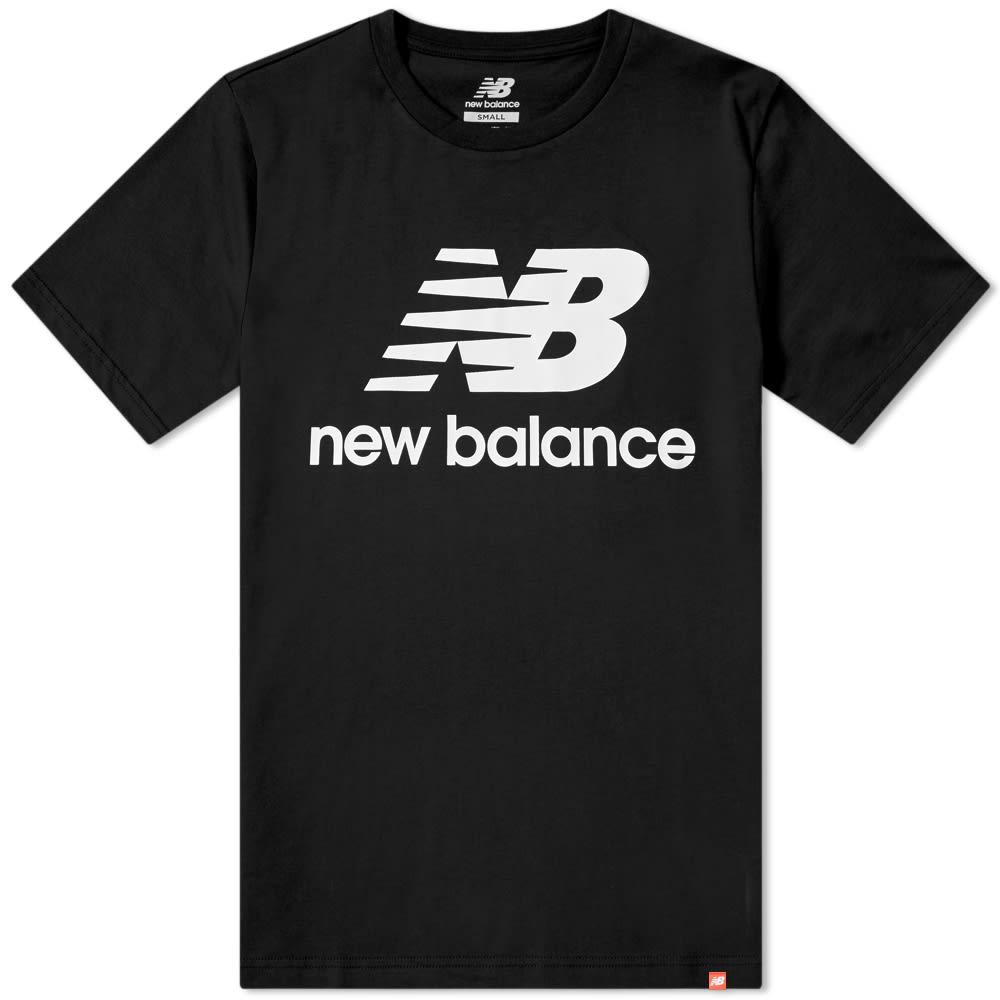 e98800d6fb5a3 New Balance Essentials Stacked Logo Tee Black | END.
