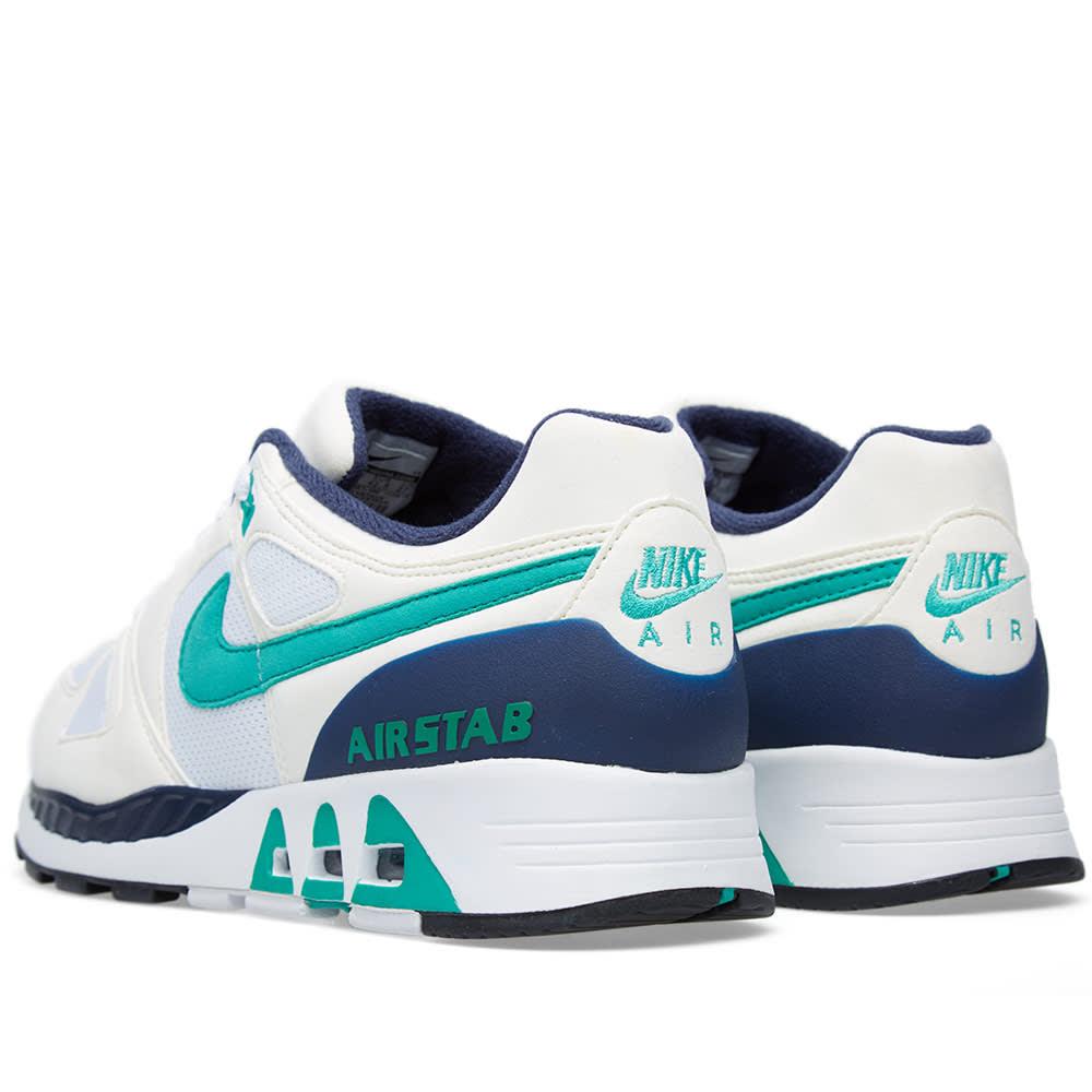 pretty nice cea26 c5ce4 Nike Air Stab White   Emerald Green   END.