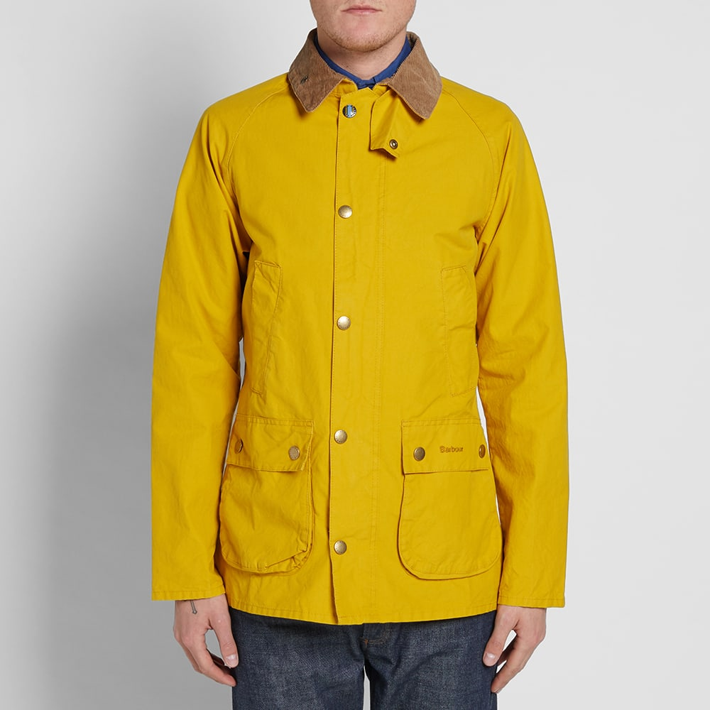 2efa2778c0eec Barbour Washed Bedale Jacket Yellow | END.