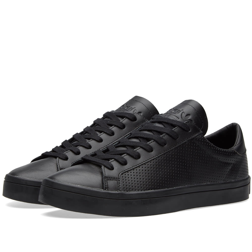 adidas court vantage core black white. Black Bedroom Furniture Sets. Home Design Ideas