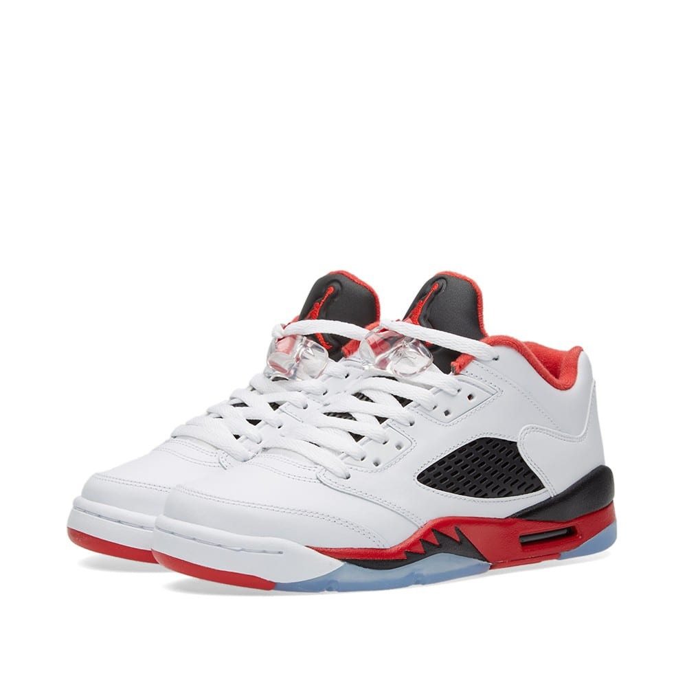 size 40 291e4 950f0 Nike Air Jordan 5 Retro Low GS White, Fire Red   Black   END.