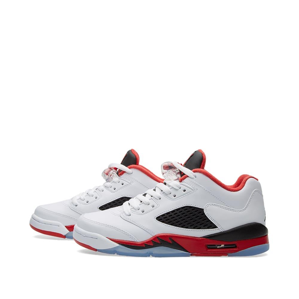 size 40 ec387 8941d Nike Air Jordan 5 Retro Low GS White, Fire Red   Black   END.
