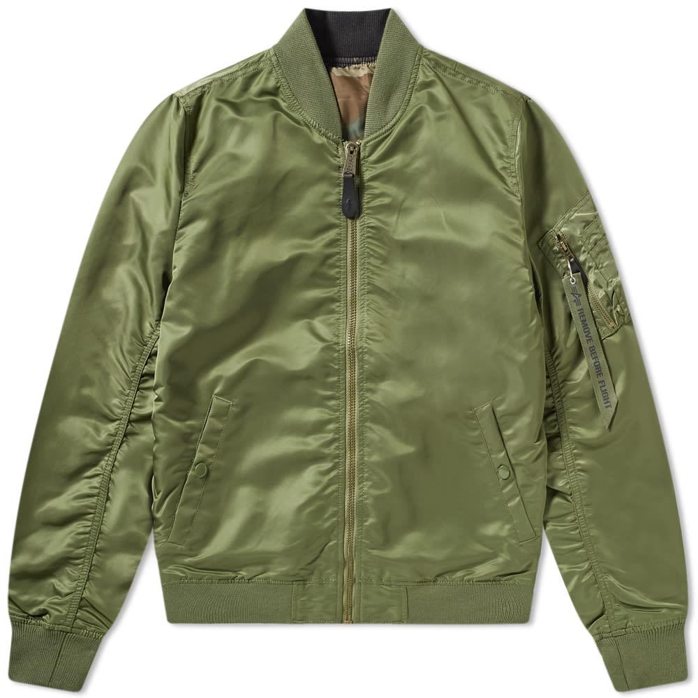 f96d888808bb4b Alpha Industries MA-1 VF LW Reversible Jacket Sage   Woodland Camo ...