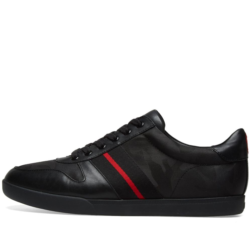 77207aa204d9 Polo Ralph Lauren Camo Grosgrain Stripe Sneaker Black